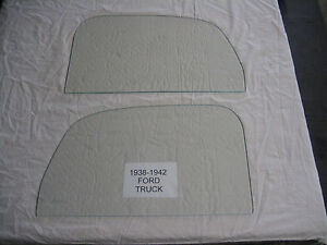 1938 1939 1940 1941 1942 Ford Pick Up Right And Left Door Glass Clear