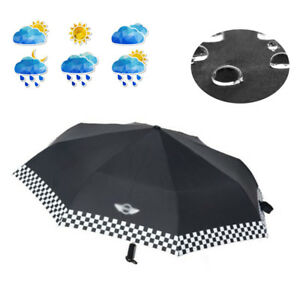 Fit For Bmw Mini Cooper Portable Automatic Folding Umbrella Checkered Practical