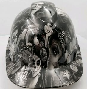 Hard Hat Custom Hydro Dipped Osha Approved Tattoo Babes New Super Sick