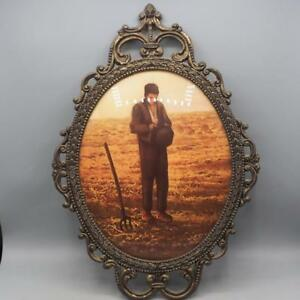 Vintage Metal Oval Picture Frame For 9 X11