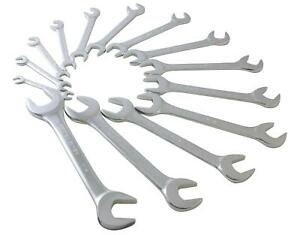 Sunex 9914 Sae Angled Wrench Set 3 8 Inch 1 1 4 Inch 14 Piece