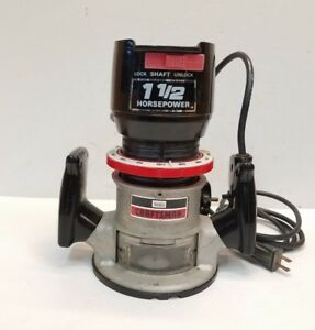 Craftsman 1 5 Hp Fixed Based 1 1 2 Hp 25000 Rpm Heavy Duty Router Free Shipping