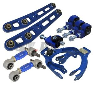 Civic Delsol Integra Lower Control Arm upper Front rear 2pcs Camber Kit Blue
