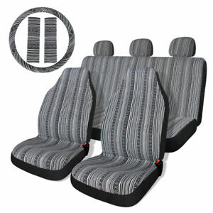 Baja Saddle Blanket Bucket Car Seat Cover Set Universal 10pc W Wheel Cover