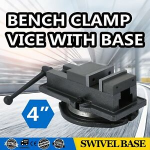 4 Milling Machine Lockdown Vise With 360 Degree Swiveling Base High Precision