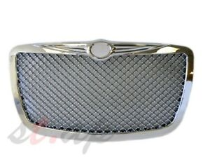2005 2010 Chrysler 300 300c Mesh Bentley Style Front Grill Grille Chrome