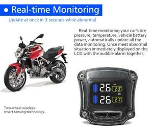 Careud M3 Tire Pressure Monitoring System Tpms 2 External Sensor For Motorcycle