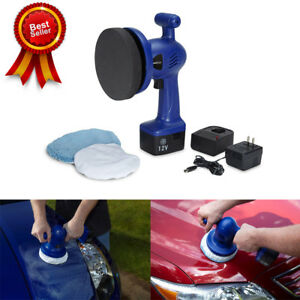 Cordless Car Buffer Rv Boat Orbital Polisher Waxer Vehicle Handheld Electrical