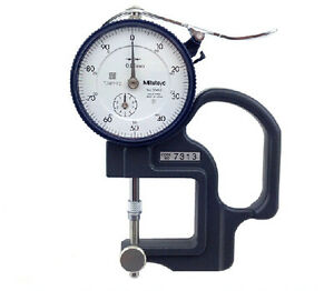 Mitutoyo 7313 Dial Thickness Gage Lens Reverse Anvil 0 10mm Range