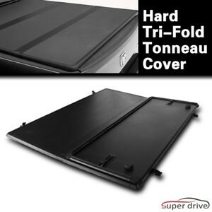 Aluminum Hard Tri fold Tonneau Cover For 2015 2018 Chevy Colorado 6ft Bed