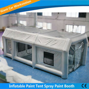 6m 3m 2 5m Inflatable Spray Paint Booth Custom Tent Car Filtration System Usa