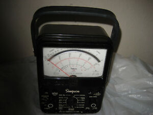 Simpson Electric 260 Series 8 Analog Multimeter 1000v 10a 20m Ohms And Working