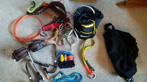 Lot Climb Right Gaffs Bukkingham Spur Pads Weaver Harness carabiners rope bags