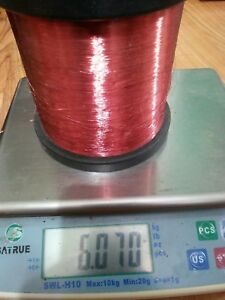40 Awg Gauge Enameled Copper Magnet Wire 5 62 Lbs Tinomid 180 Red