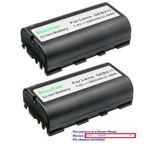 Kastar Replacement Battery For Leica Geb211 Leica Piper 100 Piper 200 Sr20