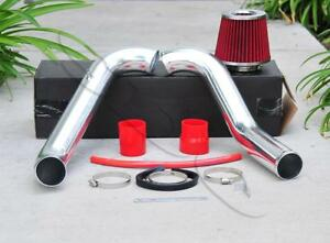 Chrome Cold Air Intake 2 75 Red Air Filter For Honda Civic 1996 2000 Dx Lx 1 6l