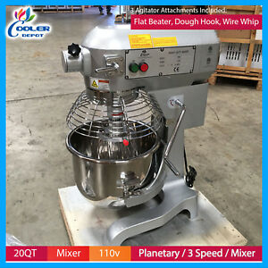 20 Qt Nsf Gear Driven Commercial Planetary Stand Mixer With Guard 110v