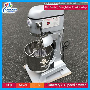 30 Qt Gear Driven Commercial Planetary Stand Mixer With Guard 110v