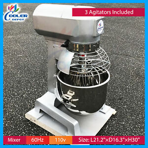 20 Qt Gear Driven Commercial Planetary Stand Mixer With Guard 110v
