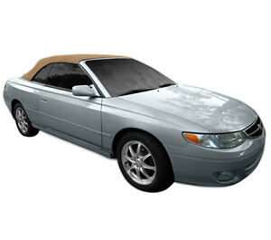 Fits toyota Solara Convertible Top With Heated Glass Window 1999 2003 Tan Twill