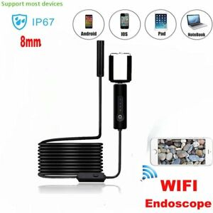 5m 8mm Android Endoscope Waterproof Tube Borescope Usb Inspection Camera Qw