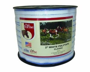 New Field Guardian 2 White Polytape Classic For Electric Fence Free2dayship
