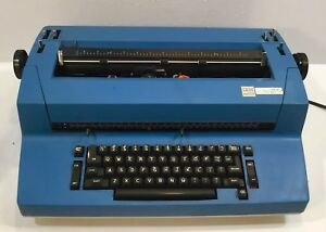 Vintage Ibm Selectric Ii Correcting Typewriter Blue White Tested Working Vtg