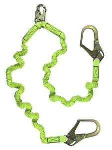 Safewaze Fs596 6 Stretch Low profile Energy Absorbing Lanyard W rebar Hook Dual