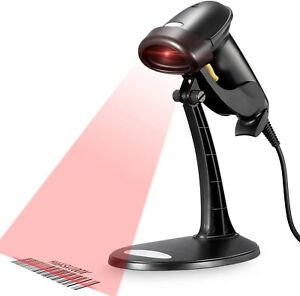 Barcode Scanner Wired Handheld Usb Retail Small Business Code Plug N Play Sale