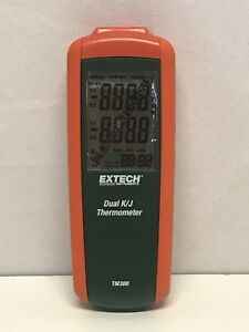 Extech Tm300 Type K j Thermocouple Dual Input Thermometer