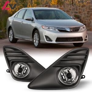 For Toyota Camry 12 14 Clear Lens Pair Oe Fog Light Lamp Wiring Switch Kit Dot