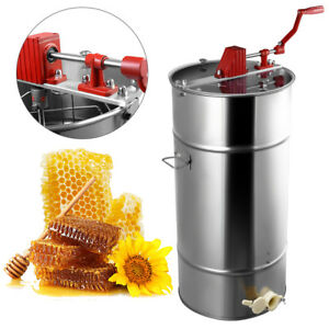 Us Large Honey Extractor 2 Frame Stainless Steel Beekeeping Equipment New Sliver