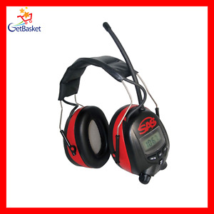 Sas Safety 6108 Digital Earmuff Hearing Protection With Am fm Radio And Mp 3