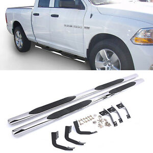 Running Boards Side Step Nerf Bars For Dodge Ram 1500 2009 2014 Crew Cab 4 Oval