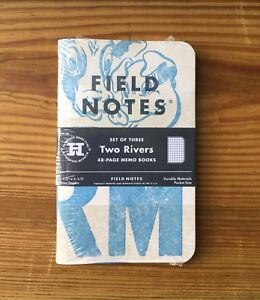 Field Notes Two Rivers Edition spring 2015 Sealed Notebook 3 pack