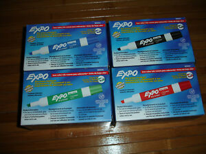 Expo Lot Black Blue Red Green Dry Erase Markers 12 Packs 144 Pens Chisel Tip New
