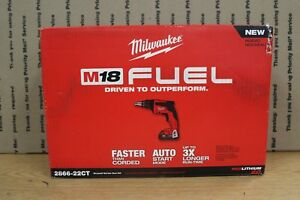 Milwaukee 2866 22ct M18 Fuel 18v Brushless Compact Drywall Screw Gun new