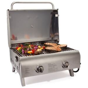 Stainless Tabletop Gas Grill Griddle Top Flat Burner Countertop Cooker