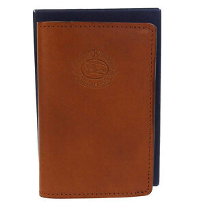 Authentic Burberrys Of London Logos Card Case Leather Brown Accessory 06b1149