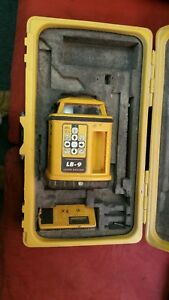 Laser Alignment Lb 9 Self level Rotary Laser Topcon Spectra Transit As is
