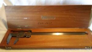 Vintage Starrett no 122 0 12 Vernier Caliper Inside Outside Free Ship