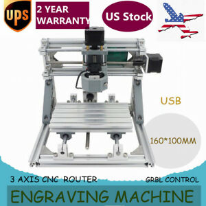 3 Axis Cnc Router Mini Wood Carving Machine 1610 Grbl Control Pcb Milling 220v
