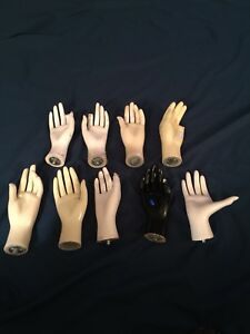 Female Mannequin Hands Set Of 9 Some Damaged