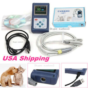 Portable Cms60d vet Veterinary Pulse Oximeter With Tongue Spo2 Probe pc Software