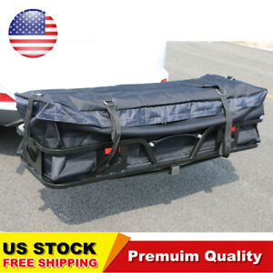 58 Large Waterproof Hitch Cargo Carrier Bag Hitch Mount Luggage Roof Top Rack