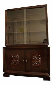 Mid Century Modern Asian Ming Style James Mont Display China Cabinet