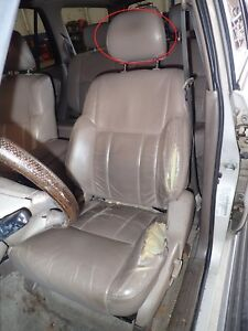 96 97 98 99 00 01 02 4 Runner Left Front Driver Headrest Leather Brown Lf45