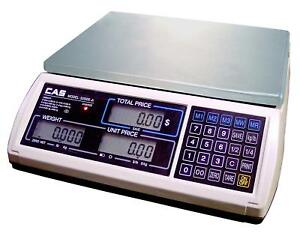 Cas S2000jr 30lb Price Computing Retail Scale Lcd Display ntep Legal For Trade
