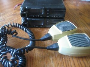 Lot Of 2 Vertex Vx 3200v Vhf Uhf Mobile Marine Two Way Radio And Mikes sale