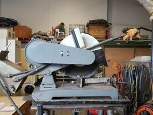 Kbc Machinery Cos 16 3ph Metal Chop Saw On Stand